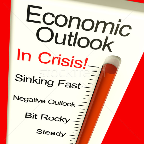 ストックフォト: 経済の · 危機 · モニター · 破産