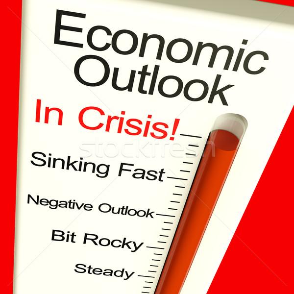 Economisch vooruitzicht crisis monitor tonen faillissement Stockfoto © stuartmiles