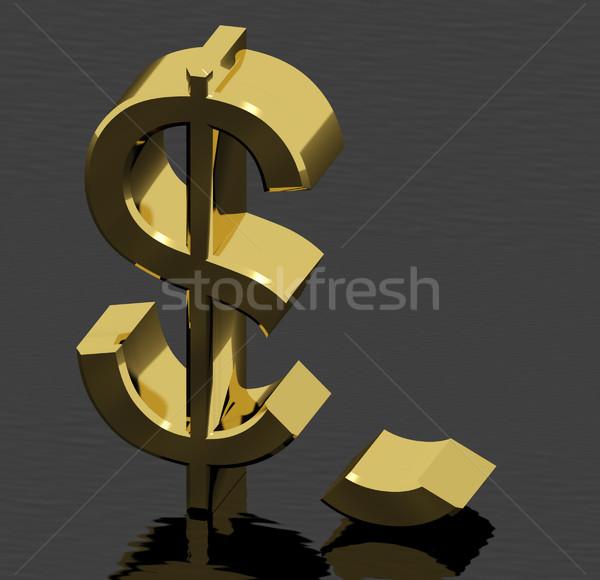 Roto dólar inflación económico fracaso recesión Foto stock © stuartmiles