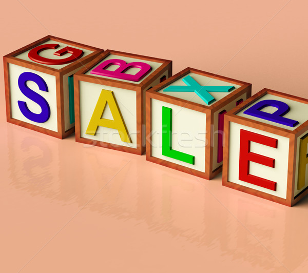 Blocks Spelling Sale As Symbol for Discounts And Promotions Stock photo © stuartmiles