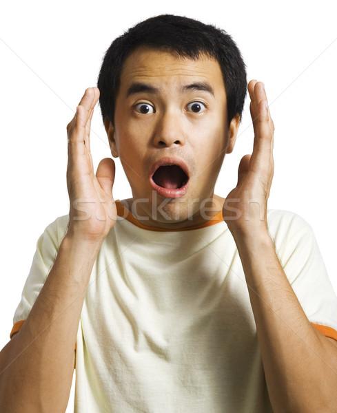 человека удивленный что-то безмолвный лице Сток-фото © stuartmiles