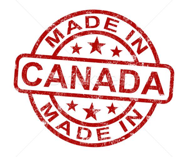 カナダ スタンプ 製品 作り出す ストックフォト © stuartmiles