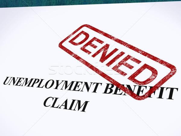 Werkloosheid voordeel beweren stempel Stockfoto © stuartmiles