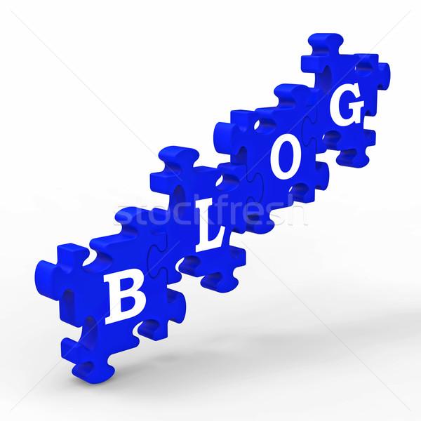 Blog lettres internet blogging Photo stock © stuartmiles
