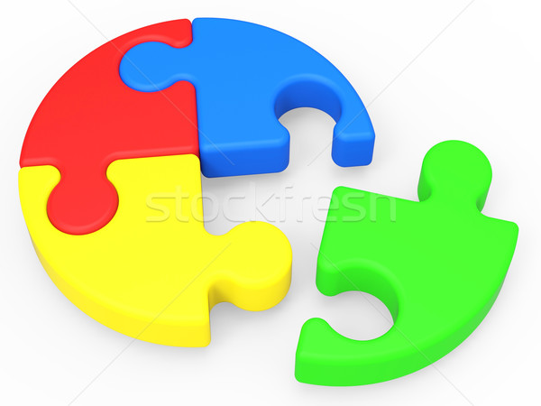 Unfinished Puzzle Shows Solving And Ending Stock photo © stuartmiles
