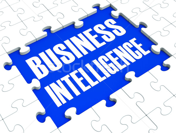 Stock photo: Business Intelligence Puzzle Shows Company's Opportunities