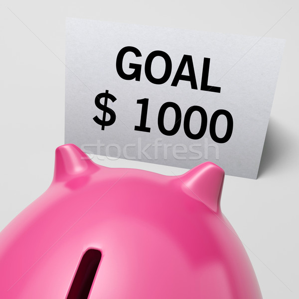 1 千 ドル usd 目標 ストックフォト © stuartmiles
