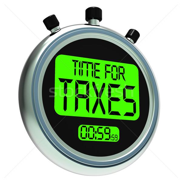Foto stock: Tempo · mensagem · tributação · significado