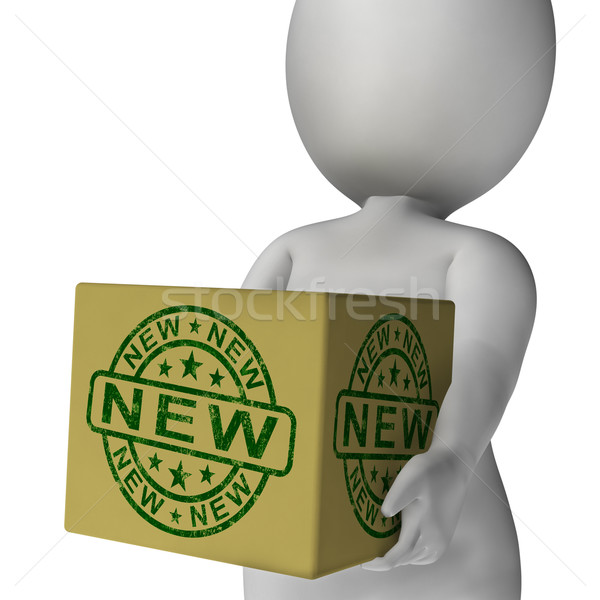 New Stamp On Box Shows Promotion Or Introductory Offers Stock photo © stuartmiles