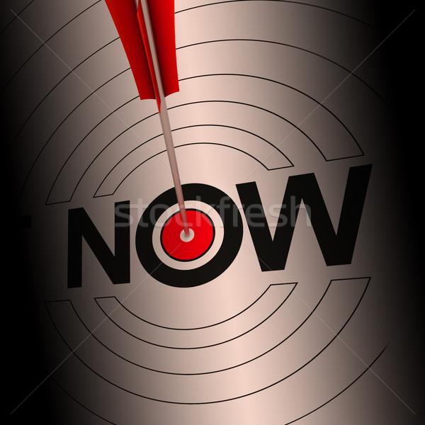 Maintenant signe immédiate rapide communiquer Photo stock © stuartmiles