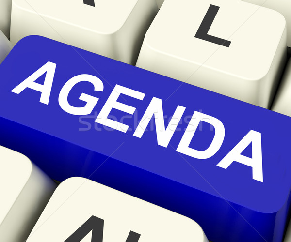 Agenda Key Means Schedule Or Outline Stock photo © stuartmiles