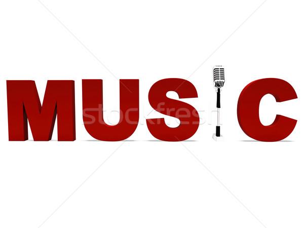 Zene szó tehetség előadás koncert mutat Stock fotó © stuartmiles