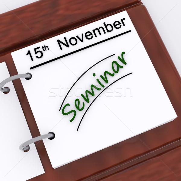 Seminario appuntamento calendario presentazione conferenza Foto d'archivio © stuartmiles