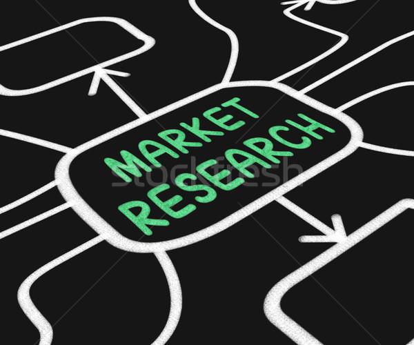 Pazar araştırma diyagram tüketiciler Stok fotoğraf © stuartmiles