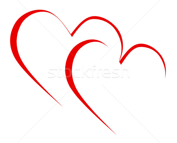 Intertwined Hearts Mean Romanticism Togetherness And Passion Stock photo © stuartmiles