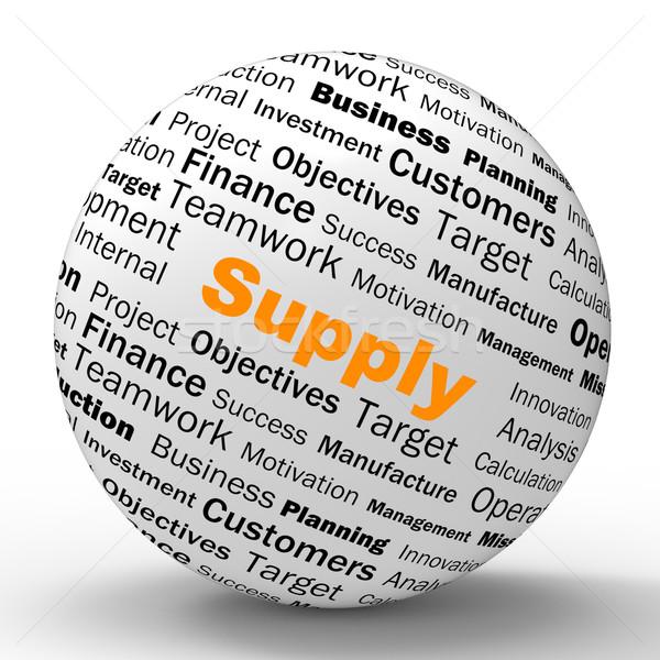 Liefern Bereich Bestimmung Waren Produkt Nachfrage Stock foto © stuartmiles