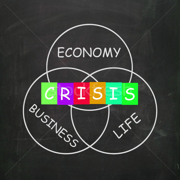 Business Life Crisis Means Failing Economy or Depression Stock photo © stuartmiles