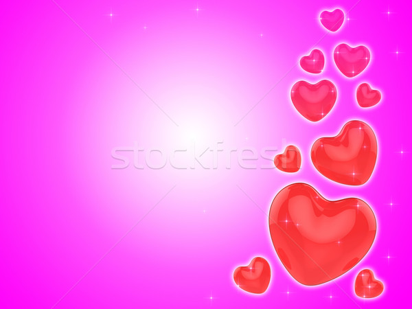 Hearts On Background Show Romantic Couple Or Dating Stock photo © stuartmiles