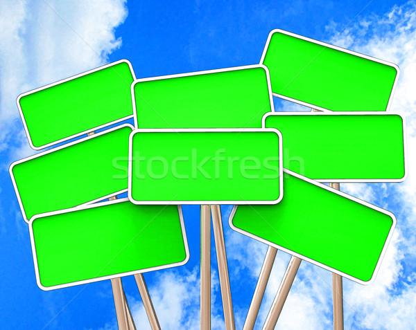 üres tábla copy space üzenet mutat Stock fotó © stuartmiles