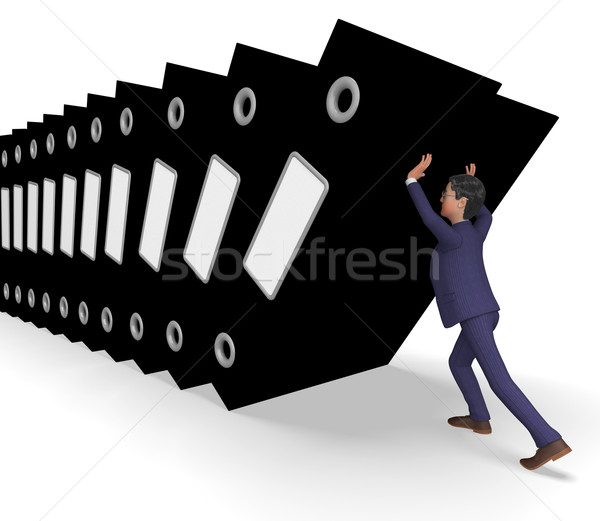 Information Overload Represents Commerce Businessman And Biz Stock photo © stuartmiles