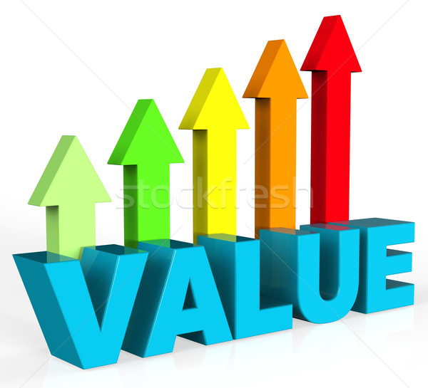 Increase Value Means Up Worth And Valuable Stock photo © stuartmiles
