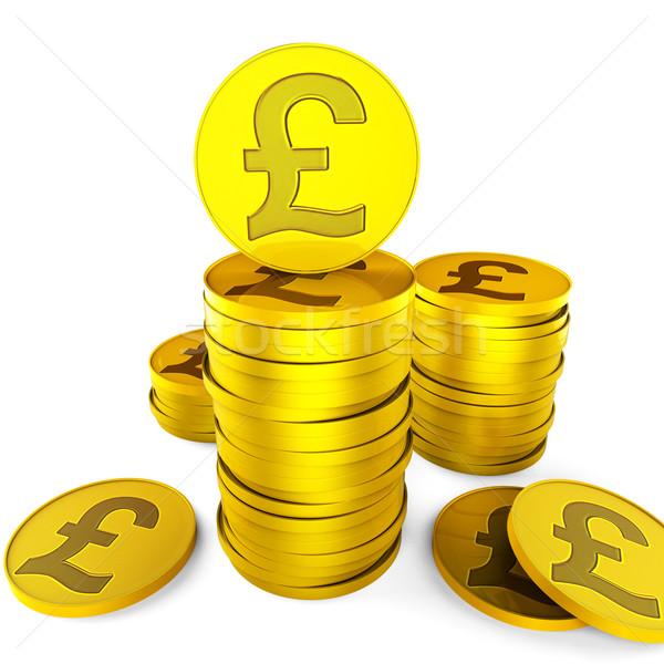 Pound tasarruf İngilizler nakit finanse büyüme Stok fotoğraf © stuartmiles