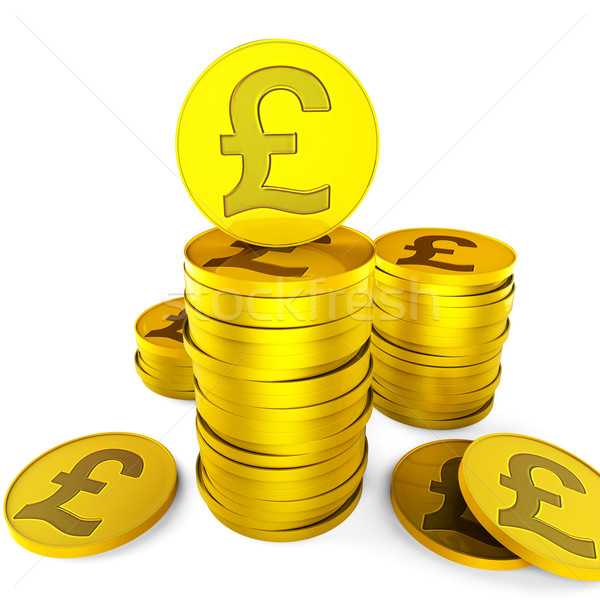 Pound Savings Indicates British Pounds And Cash Stock photo © stuartmiles
