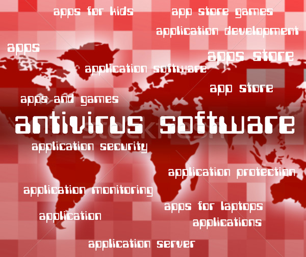Antivirus Software Indicates Programs Unsecured And Spyware Stock photo © stuartmiles