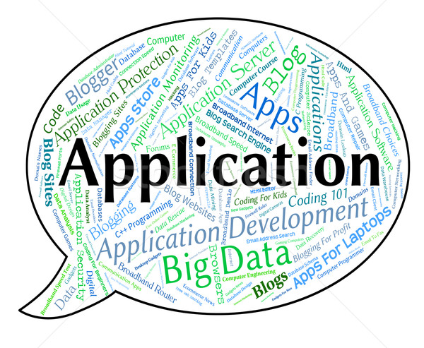 Application Word Shows Apps Www And Programming Stock photo © stuartmiles
