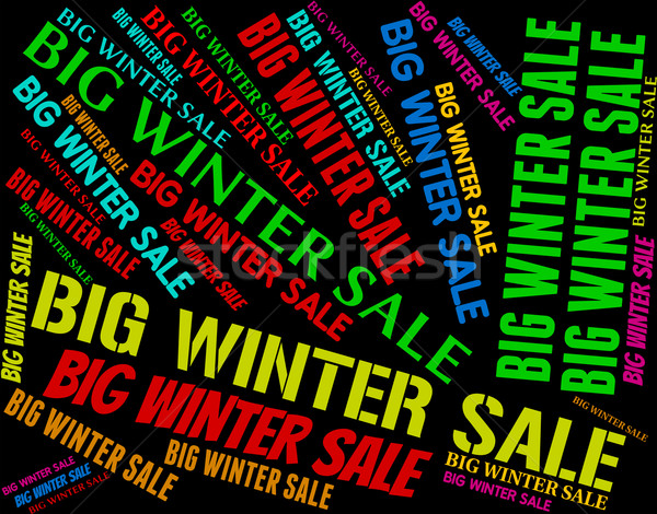 Grande inverno venda barato promoção palavras Foto stock © stuartmiles