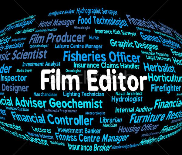 Film editor bezetting baan baas betekenis Stockfoto © stuartmiles