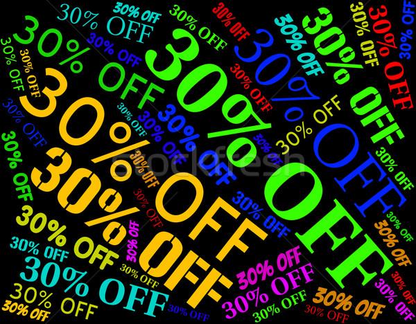 Trente pour cent mots promo mettre Photo stock © stuartmiles