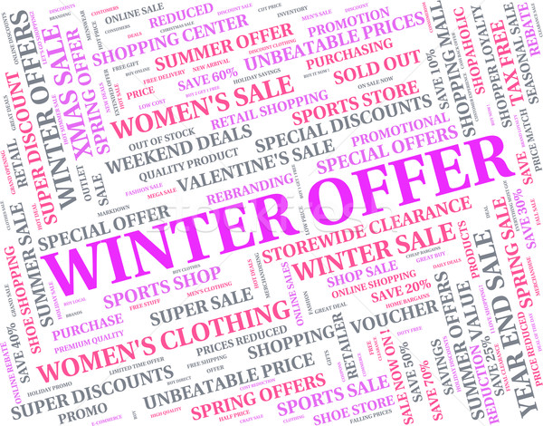Winter Offer Indicates Bargains Sale And Words Stock photo © stuartmiles