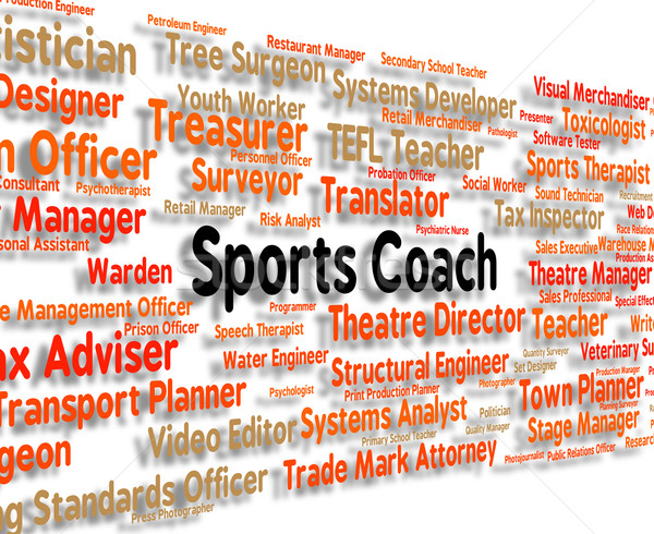 Sports Coach Shows Physical Exercise And Coaching Stock photo © stuartmiles