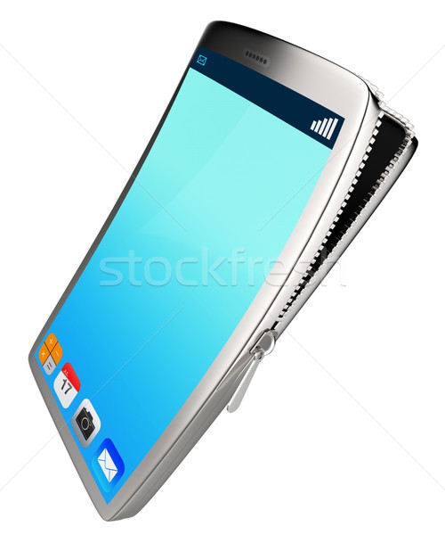 Phone Contents Represents Application Software And Phones Stock photo © stuartmiles
