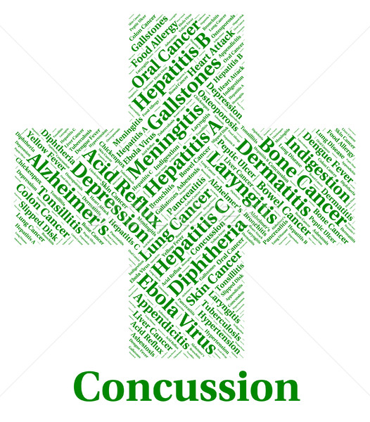 Concussion Illness Means Lose Consciousness And Affliction Stock photo © stuartmiles