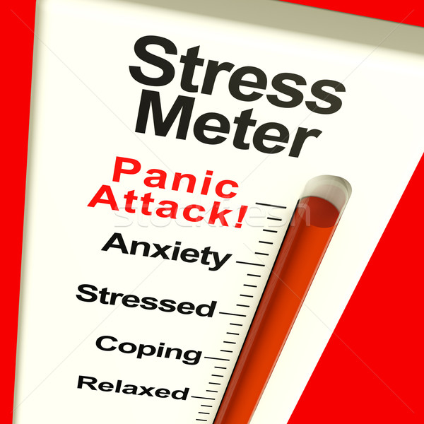 Stress Meter Showing  Panic Attack From Stress Or Worry Stock photo © stuartmiles