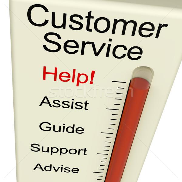 ügyfélszolgálat segítség támogatás útmutatás monitor támogatás Stock fotó © stuartmiles
