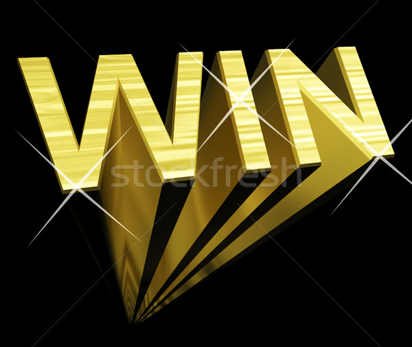Win Text In Gold And 3d As Symbol For Success And Victory Stock photo © stuartmiles