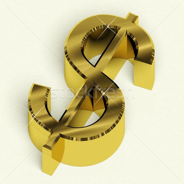 Dollar Sign As Symbol For Money Or Wealth Stock photo © stuartmiles