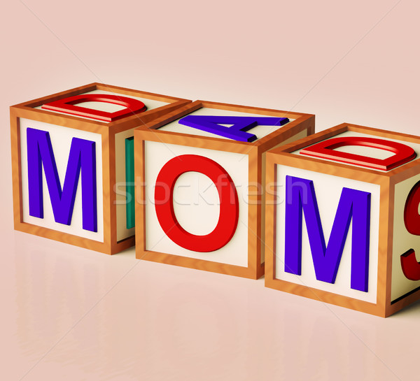 Kids Blocks Spelling Mom As Symbol for Motherhood And Parenting Stock photo © stuartmiles