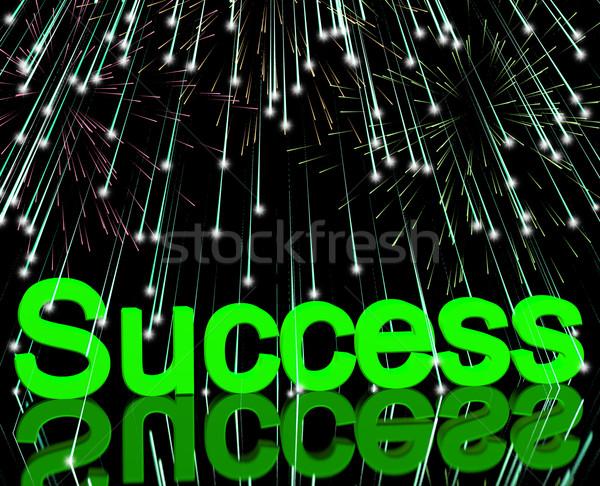 Successo fuochi d'artificio raggiungimento determinazione business Foto d'archivio © stuartmiles