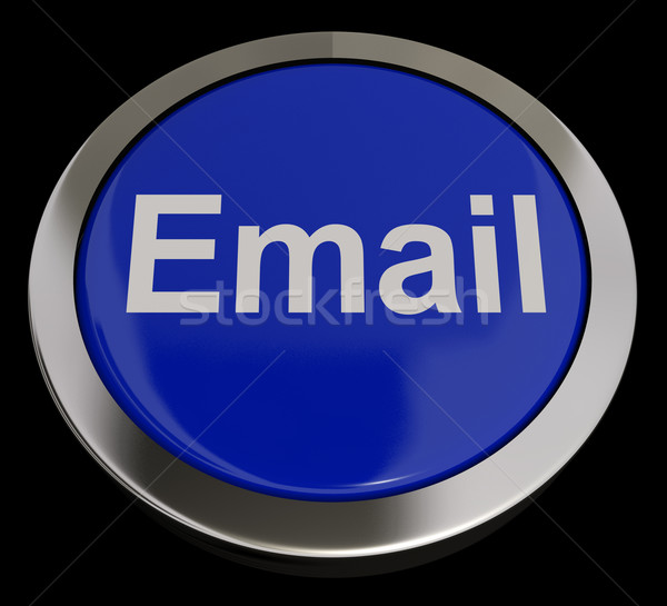 Email Button In Blue For Emailing Or Contacting Stock photo © stuartmiles