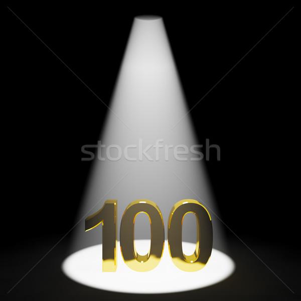 Złota jeden sto 3D numer rocznicy Zdjęcia stock © stuartmiles