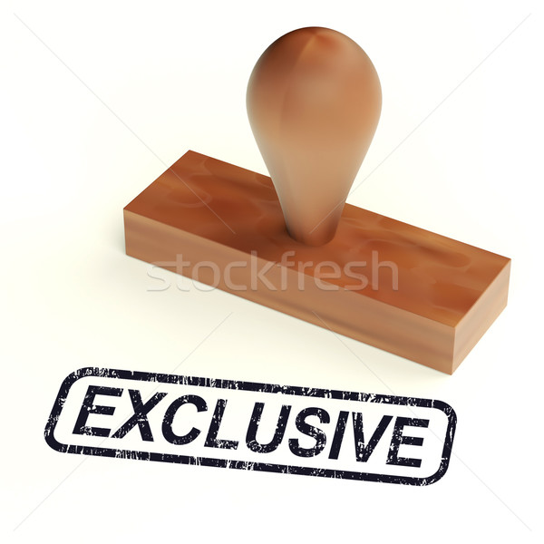 Exclusive Rubber Stamp Shows Limited Products Stock photo © stuartmiles