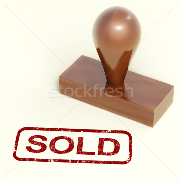 Sold Stamp Showing Selling Or Purchasing Stock photo © stuartmiles