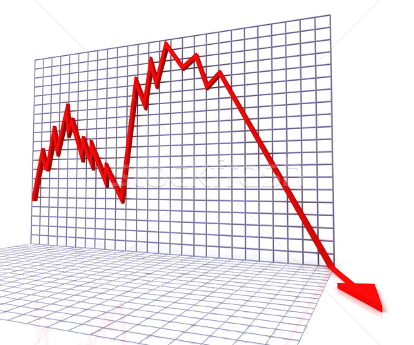 Red Graph Shows Sales Or Turnover Stock photo © stuartmiles