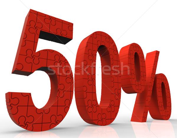 50 quebra-cabeça grande poupança preço redução Foto stock © stuartmiles