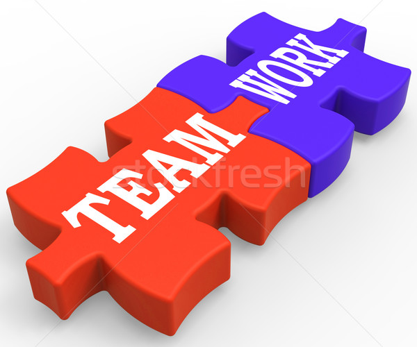 Teamwork Shows Community Working Together Stock photo © stuartmiles