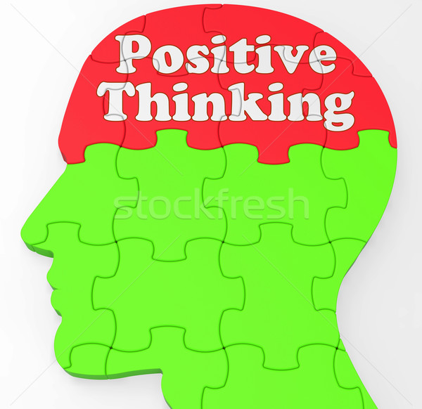 Positive Thinking Mind Shows Optimism Or Belief Stock photo © stuartmiles